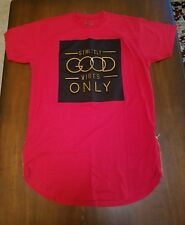 Men's Foil Print Tee with Side Zippers from Bleecker & Mercer RED X-Large
