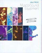 ORIGINAL Vintage 1970s Altec Musical Sound Equipment Catalog