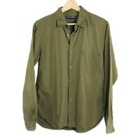 Comme Des Garcons Homme CDG Olive Green Button Down Shirt Size Small