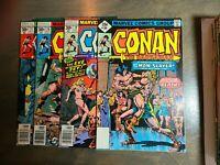 Conan the Barbarian 4 Book lot #77,78,79,80 VF Bronze Age(Marvel 1977)
