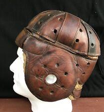 RARE Antique Rawlings Robert Zuppke 1917 Leather Football Helmet