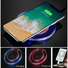 Qi Wireless Fast Charger Dock Pad + Receiver For iPhone 5 6 6S 7 8 Plus / 11 Pro