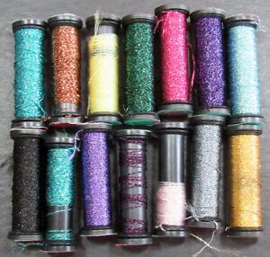 14x Needlepoint/Embroidery THREAD KREINIK 4 Braid metallic-mixed-ZZ520