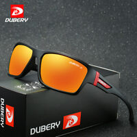 DUBERY Mens Sports Polarized Sunglasses Outdoor Riding fishing Square Eyewear