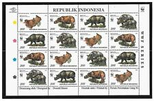 INDONESIA SC 1673 NH STRIP+SOUVENIR SHEET+MINISHEET of 1996 - WWF - ANIMALS