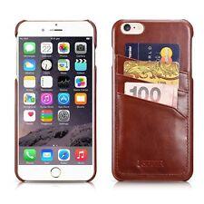 Genuine ICARER Vintage Leather Card-slot Back Cover For iPhone 6 PLUS BROWN