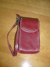 FRANKLIN COVEY ZIP AROUND WALLET PINCH PHONE CASE RED WRISTLET 3 CARD SLOTS