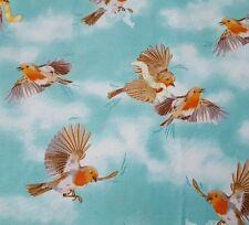 Serenity Prayer BTY Ivy Lane Quilting Treasures Bird Toss Dark Aqua