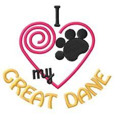 """I """"Heart"""" My Great Dane Sweatshirt 1436-2 Sizes S - Xxl"""