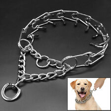 Dog Training Prong Collar Rubber Tips Pinch Choke Chain Necklace Guardian 4 Size
