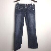 MISS ME Stone Wood Boot Leg JP41978 Distressed Flap Pocket Women's Sz 27 x 32