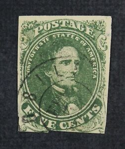 CKStamps: US Confederate States Stamps Collection Scott#1 Used Tiny Thin