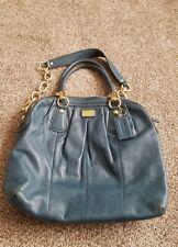 Coach Kristin Pleated Deep Teal Leather 2 Ways Satchel Shoulder Handbag 15339