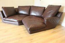 B & B italia harry brown leather sofa 2 sections