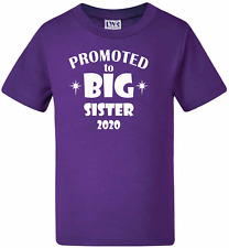 Kids t-shirts Sister tees PROMOTED TO BIG SISTER  2020 - Pregnancy Announcement