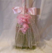 Wedding Custom Designed Jumping the Broom Traditional Ceremony Party Pink