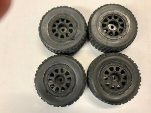 used Team Associated sc18 tires wheels 1/18r rc18 losi losi atomic tamiya rc18t
