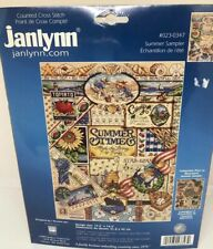 Janlynn Summer Times Camp Cruise Sea Sampler Counted Cross Stitch #023-0347 HTF