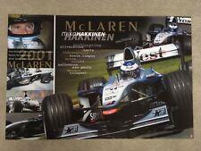 Mika Hakkinen Poster A1 2001 Season F1 Formula 1 Memorabilia