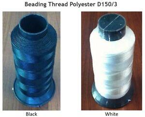 Beading Thread Polyester (V46) 150D/3 High Tenacity 100 g Cone 1000 m