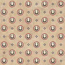By 1/2 Yard Hold 'Em or Fold 'Em Fabric ~ Horseshoe Shirting Tan Red ~ Western