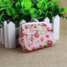 Handbag Retro Women Small Wallet Girls Change Coin Purse Hasp Clutch Card Holder Pink