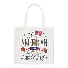 I'M Américain What's Your Superpower Standard Sac Drapeau USA America Épaule