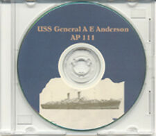 USS General A E Anderson AP 111 CRUISE BOOK WWII CD