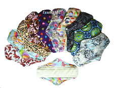 6 Medium Reusable Bamboo Cloth Menstrual Sanitary Mama Pads Regular 10in M