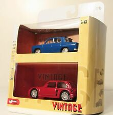 LOT de 2 RENAULT / R8 GORDINI + R5 MAXI TURBO /  VOITURE VINTAGE COLLECTION 1/43