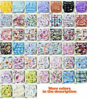 Lot Reusable Pocket Nappy Newborn Hip Snap Baby One Size Adjustable Cloth Diaper
