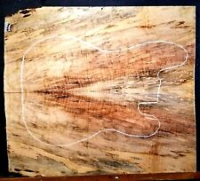 Flame Spalted Curly Maple Wood #9900 Luthier 5A Guitar Top set 23.75x20.5x.500