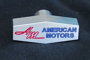 AMC Rambler Custom Billet Aluminum Air Cleaner Wing Nut  American Motors AM Logo