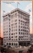 Tampa, FL 1912 Postcard: Citizens Bank & Trust Co. Building - Florida Fla