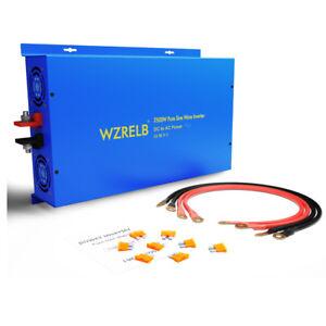 2500W Pure Sine Wave Power Inverter 36V to 110V 220V Solar Off Grid Car Truck RV