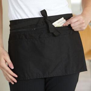 Dennys Full Zip Multi Pocket Apron Cafe Bistro Bib Gastro Pub Waitress (DW15)