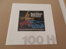 Euro Disney/Renault brochure1991 with letter.... rare.