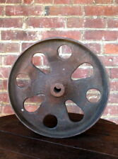 "Antique 13 1/2"" Industrial Cast Iron Factory Cart Wheel Lineberry Coffee Table"