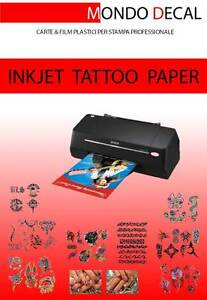 Carta per Tatuaggi Temporanei (Temporary Tattoo Transfer Paper) stampa INKJET