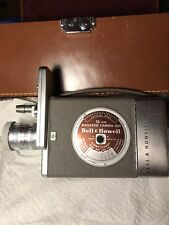 Vintage Bell and Howell 16 mm Magazine Camera 200 with Case Lens Cover and Strap