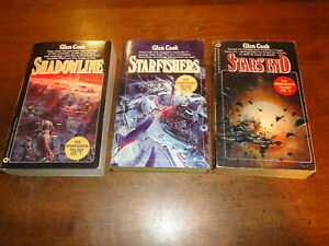 Glen Cook Starfishers Trilogy Sci-Fi paperback book lot Shadowline Star's End
