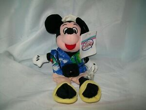 BRAND NEW WITH TAG DISNEY STORE TOURIST MICKEY MOUSE BEAN BAG