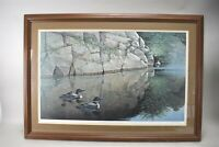 Don Whitlatch Art Print Quiet Reflections Framed Signed 111/1000 Ducks Water