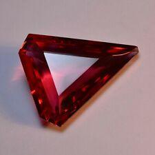 Beautiful Trillion Cut 113.95 Ct Rare Red Topaz Loose Gemstone GIE Certified