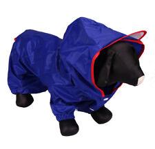 Pet Dog Puppy Rain Coat Jacket Warm Waterproof Outdoor Running Walking Blue 18