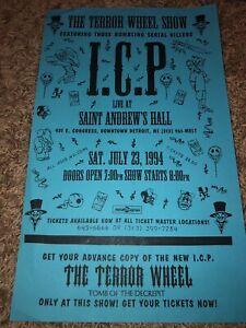 Insane Clown Posse ICP 1994 The Terror Wheel Show Poster Rare