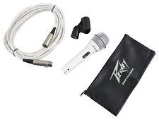 Peavey PVi2W White Cardioid Dynamic Microphone + 6m XLR to XLR + Carry Bag