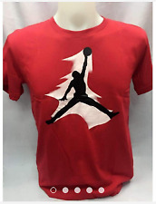 JORDAN LOGO RED SHIRT FOR ADULT SIZE LARGE