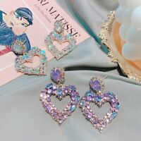 Fashion Rhinestone Butterfly Drop Dangle Earrings Ear Stud Women Party Jewelry