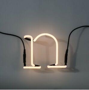 Seletti By Selab Neon Art 01422_N Letter N Wall Lamp White